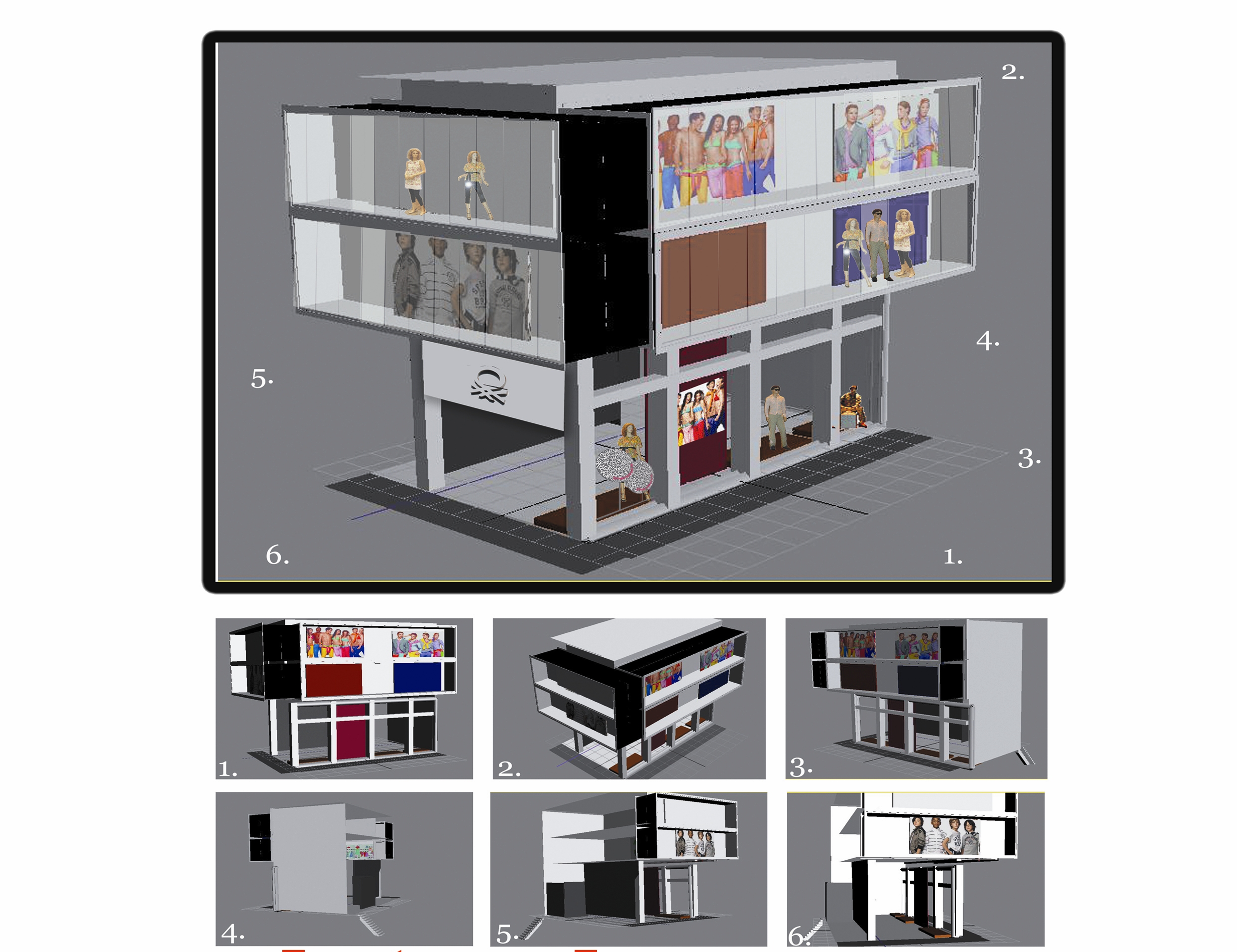 3D store layout, Visual Merchandising – HOME